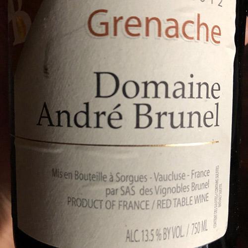 Andre Brunel Vin de Pays de Vaucluse Rouge Grenache