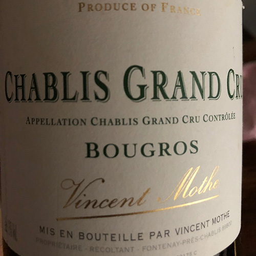 Vincent Mothe Chablis Grand Cru Bougros